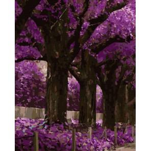 GX7944 Сиреневый сад Раскраска картина по номерам акриловыми красками на холсте