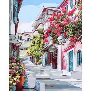 Греция Раскраска картина по номерам акриловыми красками на холсте Paintboy
