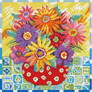 Цветики-цветочки Алмазная вышивка мозаика на подрамнике Белоснежка