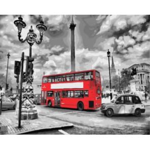 Лондонский автобус Раскраска картина по номерам на холсте
