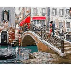 Венецианский мостик Раскраска картина по номерам на холсте