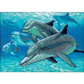Дельфины в море 06944 Набор для вышивания Dimensions ( Дименшенс )