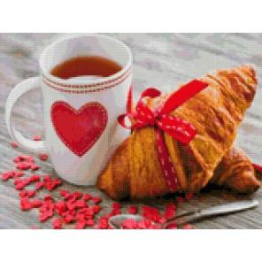 Завтрак для любимого Алмазная мозаика на твердой основе Iteso