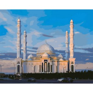 Соборная мечеть в Астане Раскраска картина по номерам акриловыми красками на холсте