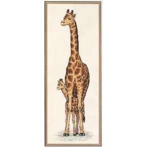 Мама-жираф и ее ребенок 13665 Набор для вышивания Dimensions ( Дименшенс )