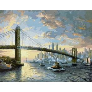 GX8972 Дух Нью-Йорка (художник Томас Кинкейд) Раскраска картина по номерам акриловыми красками на холсте
