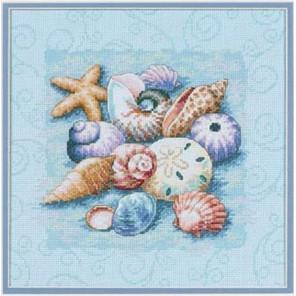 Ракушки на голубом 13725 Набор для вышивания Dimensions ( Дименшенс )