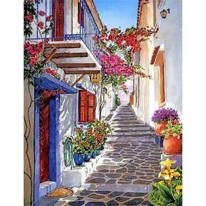 Солнечная Греция Раскраска картина по номерам на холсте