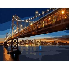 Ночной Сан-Франциско Раскраска картина по номерам на холсте