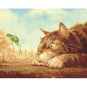 Летающий лягушонок Раскраска картина по номерам на холсте