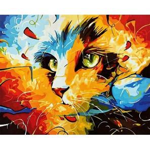 Кошка Раскраска картина по номерам на холсте