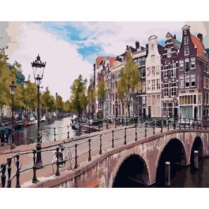 Императорский канал. Амстердам Раскраска картина по номерам на холсте