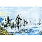 Табун лошадей Набор для вышивания Белоснежка