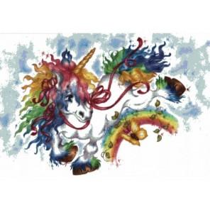 Радужный единорожка Набор для вышивания Белоснежка