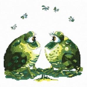 Влюблённые лягушки Набор для вышивания Белоснежка