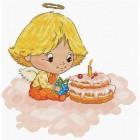 Ангел с тортиком Набор для вышивания Белоснежка