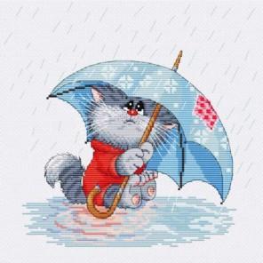 Кошарик под дождём Набор для вышивания Белоснежка