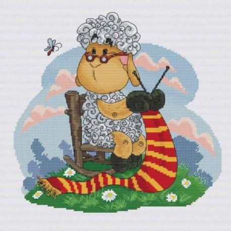 Овечка рукодельница Набор для вышивания Белоснежка