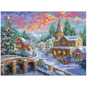 Рождественская ночь Набор для вышивания Белоснежка
