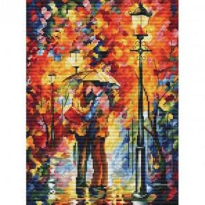 Поцелуй под дождём Набор для вышивания Белоснежка