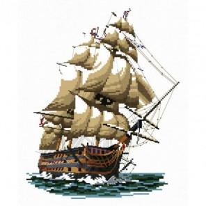 """Корабль """"Виктория"""" Набор для вышивания Белоснежка"""