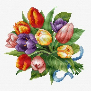 Тюльпаны Набор для вышивания Белоснежка