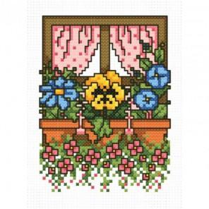 Цветочное окно Набор для вышивания Белоснежка