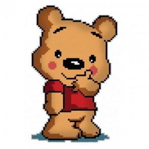Медвежонок в футболке Брелок Набор для вышивания Белоснежка