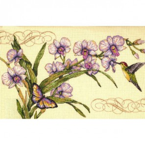 Орхидеи и колибри 35237 Набор для вышивания Dimensions ( Дименшенс ) в рамке