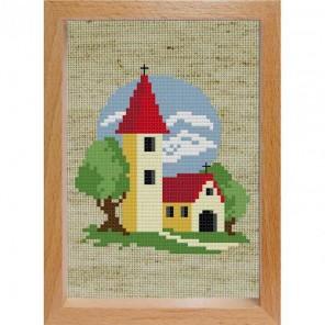 Маленькая церковь Набор для вышивания Белоснежка