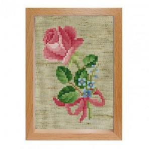 Роза с незабудками Набор для вышивания Белоснежка