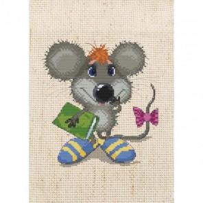 Ученый мышонок Набор для вышивания Белоснежка
