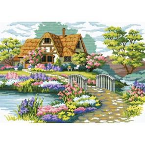 Мостик в цветах Набор для вышивания Белоснежка