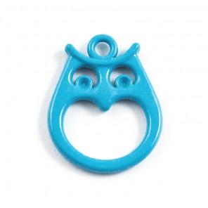 Сова голубая Подвеска металлическая для скрапбукинга, кардмейкинга