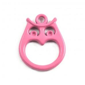 Сова розовая Подвеска металлическая для скрапбукинга, кардмейкинга