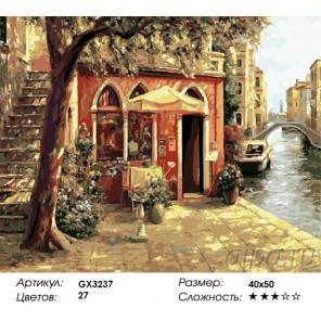 Количество и сложность Венецианская терраса Раскраска картина по номерам акриловыми красками на холсте