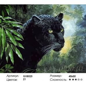 Черная пантера Раскраска картина по номерам акриловыми красками на холсте