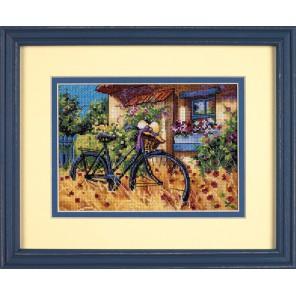 Велосипедное утро Набор для вышивания Счетный крест Dimensions