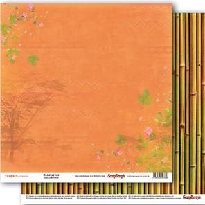 Эвкалипт и бамбук. Тропикана Бумага двусторонняя для скрапбукинга, кардмейкинга ScrapBerrys