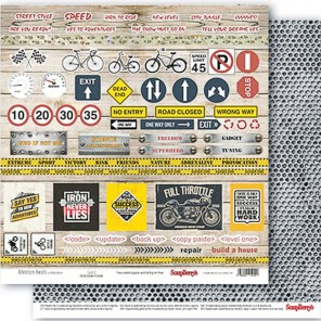 Карточки 2 Мужские Хобби Бумага двусторонняя для скрапбукинга, кардмейкинга ScrapBerrys