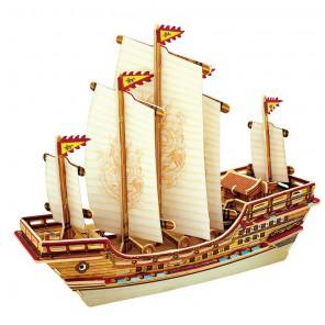 Китайский корабль 3D Пазлы Деревянные Robotime