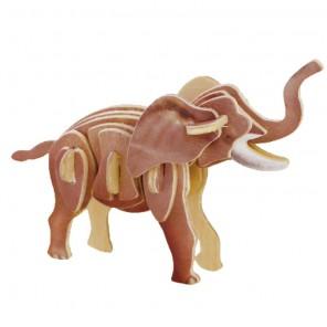 Слон 3D Пазлы Деревянные Robotime