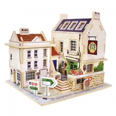 Британский бар 3D Пазлы Деревянные Robotime