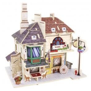 Британский чайный дом 3D Пазлы Деревянные Robotime