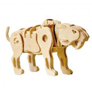 Тигр (управление звуком) 3D Пазлы Деревянные Robotime