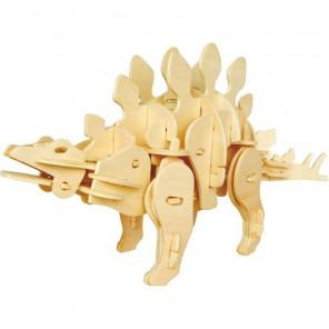 Мини стегозавр (управление звуком) 3D Пазлы Деревянные Robotime