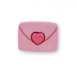 Конверт розовый Пуговицы декоративные