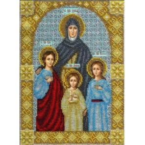 Святые Вера, Надежда, Любовь и Софья Набор для частичной вышивки бисером Паутинка