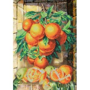 Апельсины Набор для частичной вышивки бисером Паутинка