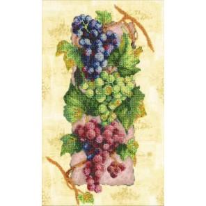Виноград Набор для частичной вышивки бисером Паутинка